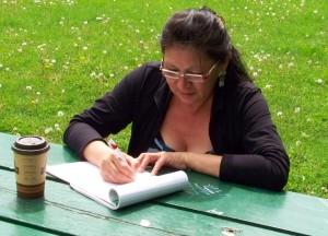 Joanna Shawana writing