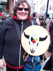 Shandra and her drum