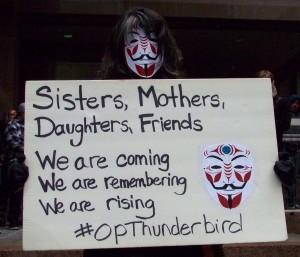 Thunderbird sign Native Rally 2013