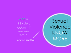 May Sexual Assault Awareness Month poster