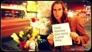 Chris Burns at Carla Warrilow death site,jpg