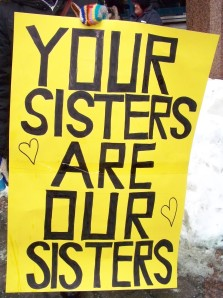 Yellow sing Your Sisters Are Our Sisters